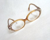 1950s - 60s Pearl & rhinestone encrusted lucite spectacles