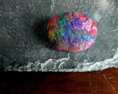 Fat Gem - Needle felted Brooch - oosie