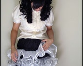 Two-Toned Black and White Poofy Cupcake Lolita Petticoat
