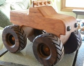 Monster Toy Wooden Truck -- Handmade Keepsake