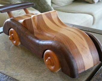Spiffy Hardwood Toy Street Rod