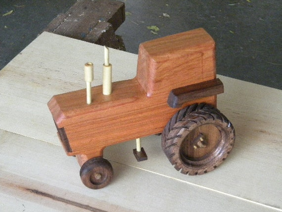 Classy Wooden Toy Tractor by grandpacharlieswkshp on Etsy