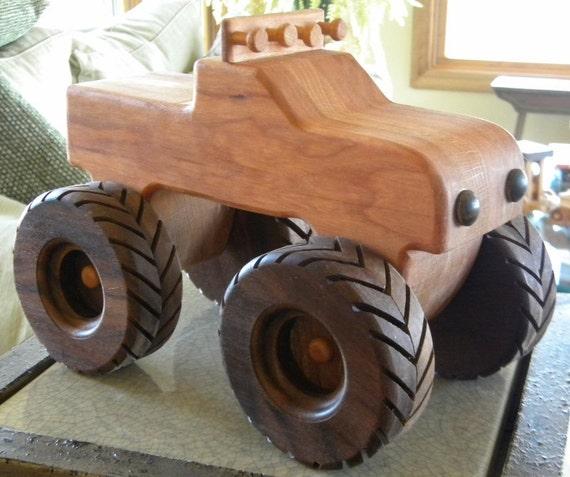 Monster Toy Wooden Truck -- Handmade Keepsake