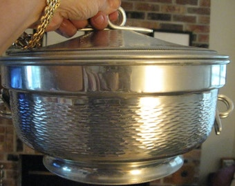Vintage Hammered Aluminum Casserole - Serving Dish from Italy