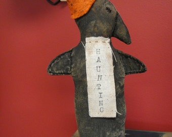 Crow stump doll extreme primitive handmade