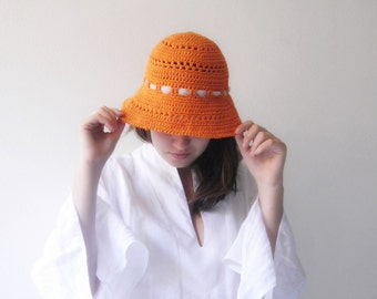 Sun Hat for women hat women accessories for summer hat crochet in cotton