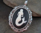 Nautical Mermaid Cameo Necklace By Metals And Time