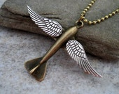 Take Flight Steampunk Wings Necklace