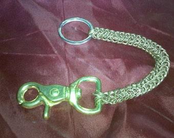 Steampunk Chain Mail Keychain