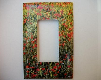 SWITCH PLATE COVER - Poppy Field