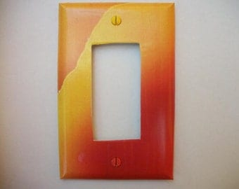SWITCH PLATE COVER - Waves Of Sunset