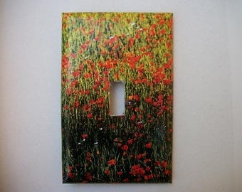 SWITCH PLATE COVER - Poppies