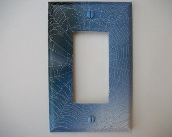 SWITCH PLATE COVER - Dew Covered Web