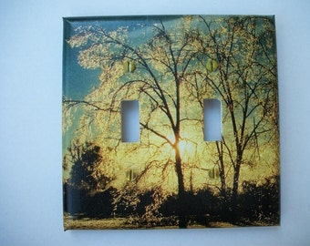 SWITCH PLATE COVER - Sunlit Trees