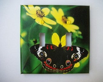 SWITCH PLATE COVER - Butterfly/Flowers