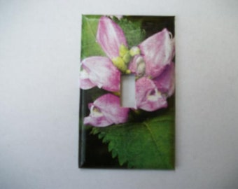 SWITCH PLATE COVER - Pink Flower