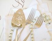 mr and mrs forks vintage wedding forks and cake server Happily Ever After