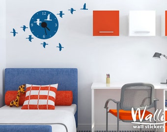 Birds Wall Clock Decor