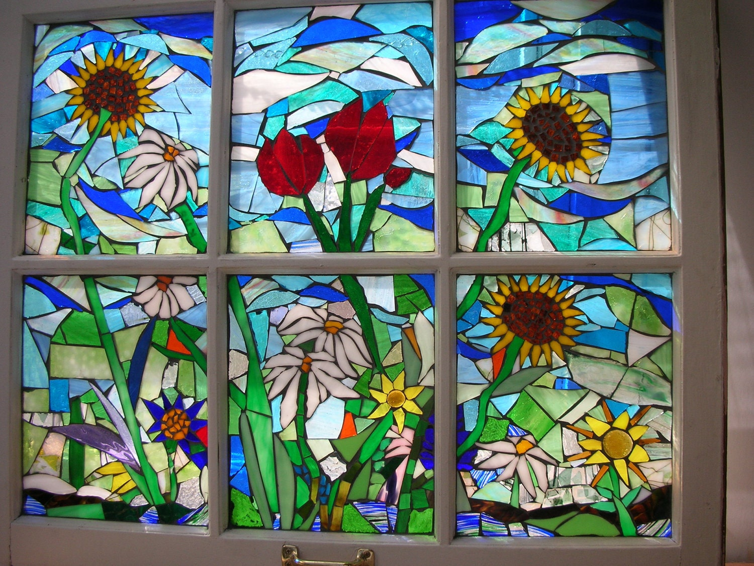 Stained Glass Mosaic Vintage Window