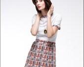 SALE- Tough Love vintage 70'S Indie Plaid 2-Piece mini dress AND blazer-- S