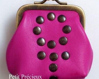 little clasp purse lamb leather