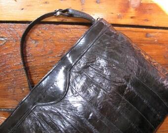 Vintage Eelskin Shoulder Bag Purse