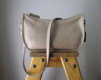 Vintage Tan Leather Coach Shoulder Bag Purse