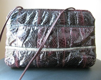 Vintage Snakeskin Clutch Purse by Aspects