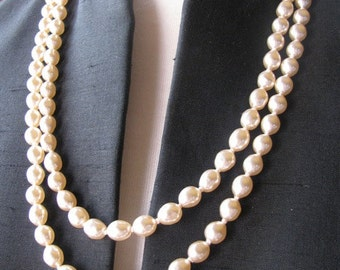Vintage Double Strand of Faux Pearls