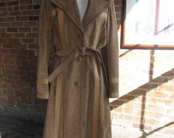 Vintage Full Length Suede Winter Coat
