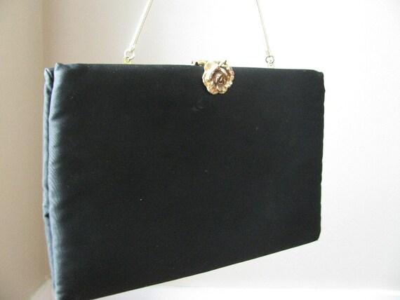 Vintage Ingber Black Clutch Handbag, 1960s