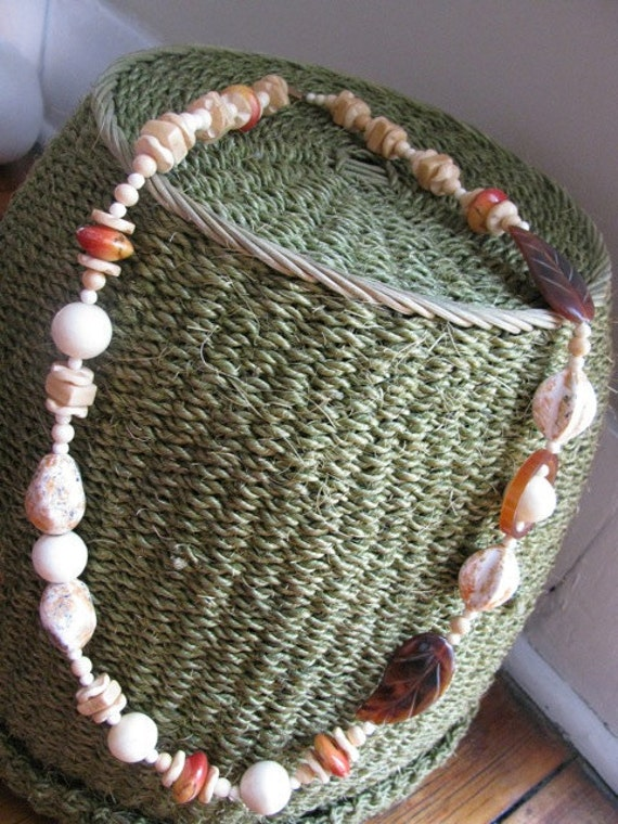 Vintage Long Bead Necklace, from the 1970s