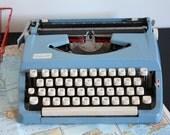 Vintage Sky Blue Kmart DELUX 100 Typewriter