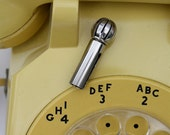 Vintage METAL Rotary Phone Dialer by Bell System
