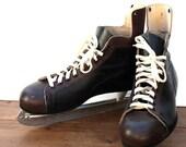 Vintage Men's LEATHER Ice Hockey Skates Size 12