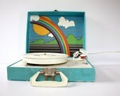Vintage Imperial Model 100 RAINBOW Portable Turntable Record Player