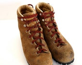 Vintage Men's LEATHER Hiking Boots Size 9
