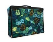 Vintage FLORAL Collapsable Suitcase