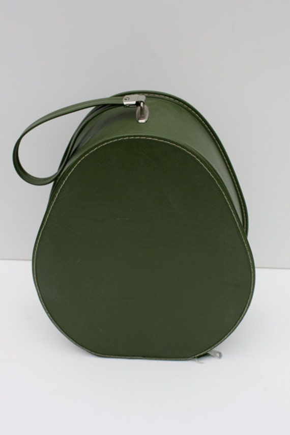 Vintage AVOCADO Green Travel Shoe Case