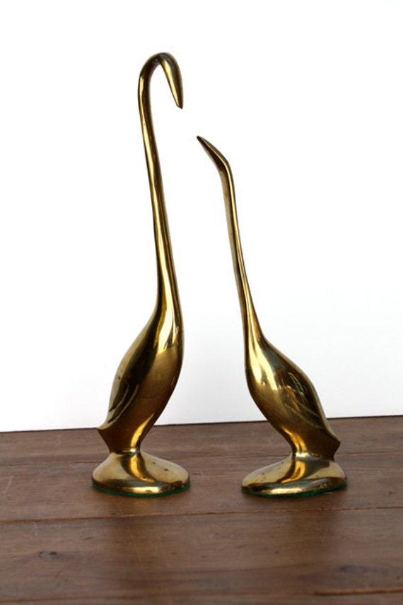 Vintage Brass BIRD Pair