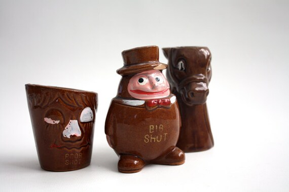 Vintage Shot Glass TRIO