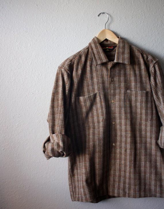 Vintage Men's EARTH TONE Plaid Shirt