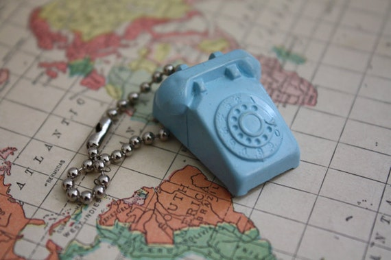 Vintage 1950's Rotary Phone Key Chain