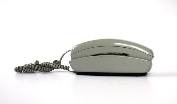 Vintage GREY Push Button Phone