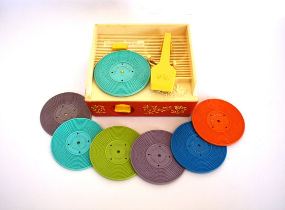 Vintage 1970's Fisher Price Record Player and MUSIC Box No. 995