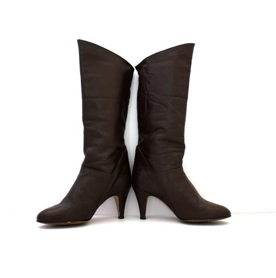 Vintage ITALIAN Leather Boots Size 8M