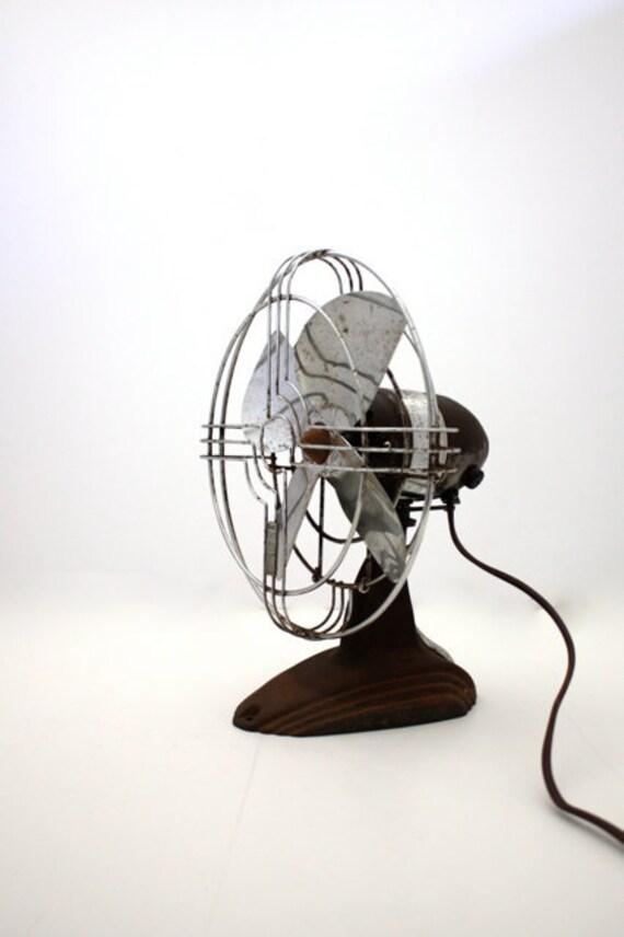 Vintage INDUSTRIAL Rusty Jack Frost Table Fan