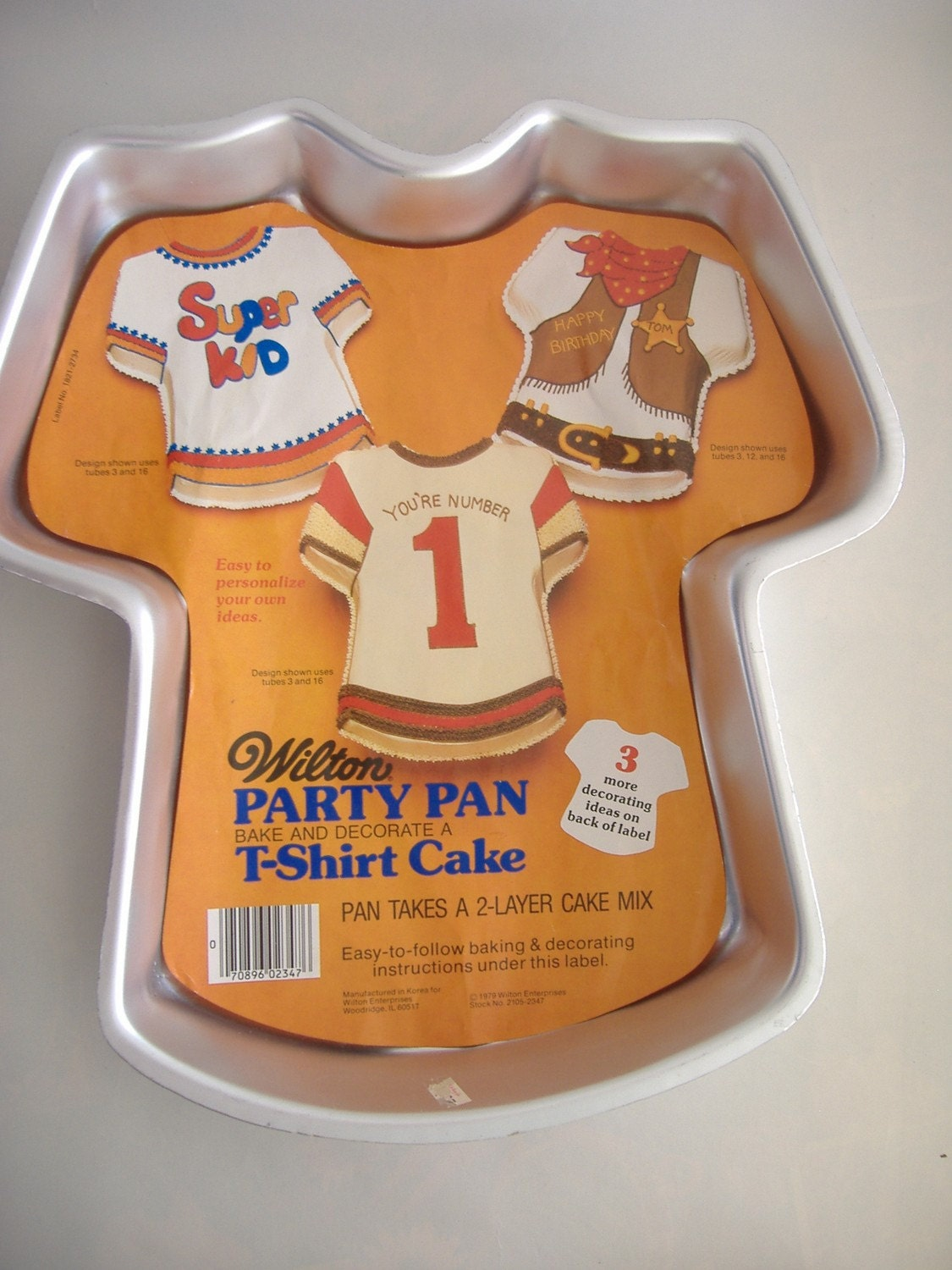 Wilton T-Shirt Cake Pan 1979
