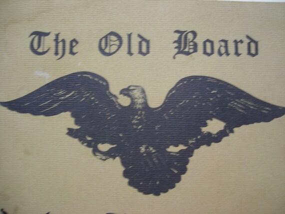 Vintage Bald Eagle Yankee Trader Room Menu Vermont Restaurant