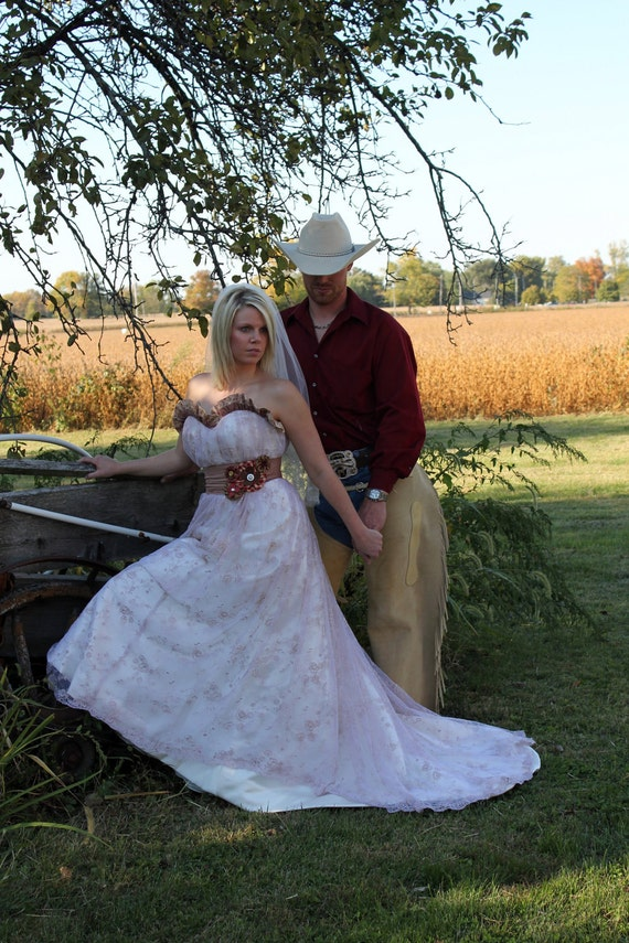 Items similar to country western wedding gown on etsy for Country western wedding dresses